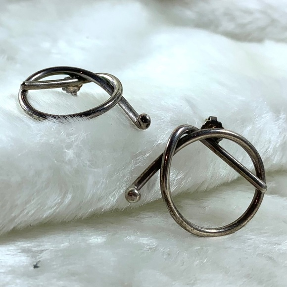 Hand made vintage sterling silver earrings